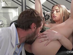 Pocket-sized Young Light-complexioned Has The Tightest Pussy To Until Her Doctor fucks Her With His Chubby Cock